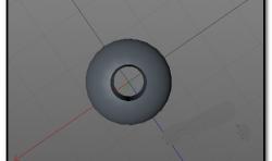 C4D怎么给球体挖一个洞?