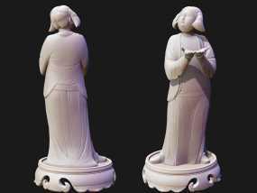 唐朝仕女高模雕像