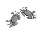 新鲜的螃蟹两只