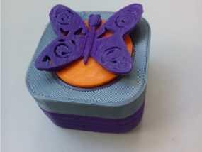 蝴蝶首饰盒模型