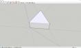 SketchUp草图大师建模教程:5步画出立体等边三角形3D模型