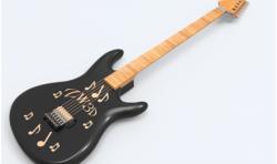 CAD建模教程:绘制酷炫吉他模型
