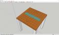 3D建模教程:使用SketchUp草图大师软件设计中国象棋桌子的3D模型