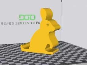 可爱的兔子手机架