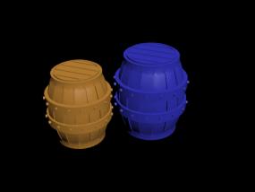有两个木桶呢