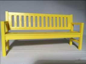 长板凳3d模型