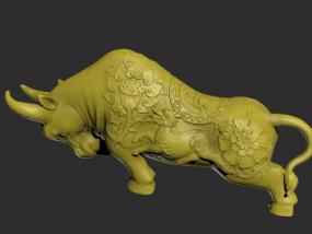 带花纹的牛模型