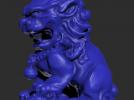 石头狮子模型