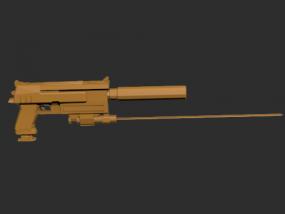 机枪模型一架