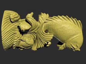 鲤鱼跳龙门模型