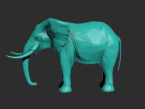 一只大象的模型