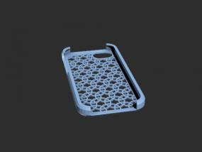 蓝色的iPh手机壳