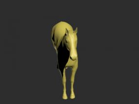 一匹骏马的模型