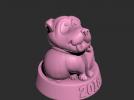 一只土拨鼠模型