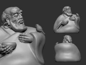 ZB精雕 达摩祖师 3d打印