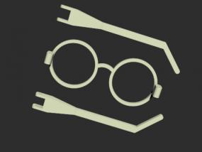 眼镜模型一眼镜模型一副