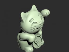 招财猫模型一只