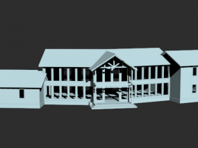 房舍白建模型