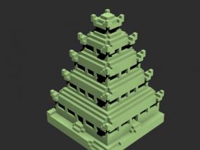 塔摆件艺术品模型