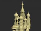 异形建筑摆件模型