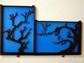 梅花墙挂装饰