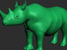 一只大犀牛模型