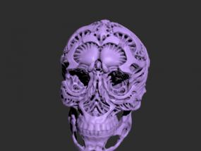 骷髅摆件模型