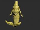 美人鱼模型一个