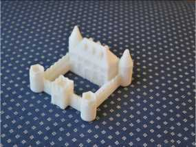迷你城堡模型