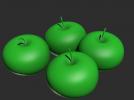 四个大苹果模型