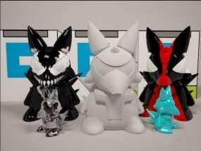 小恶魔3D公仔模型