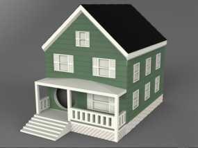 复式楼房模型