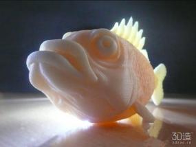 大嘴鱼3d模型
