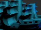 轮船模型一只