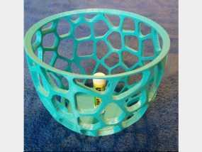 镂空圆桶模型
