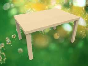 简易餐桌模型