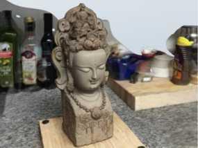 半身佛像模型
