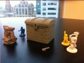 雕花的宝箱模型