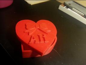 爱心礼盒模型