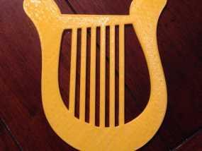 七弦琴3d模型