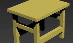 3Dmax建模教程:绘制一个小板凳模型