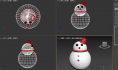 3Dmax建模教程:绘制一个雪人模型