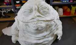 星球大战3D版画:这个真人大小的Jabba Hutt可以成为你最喜欢的装饰吗?