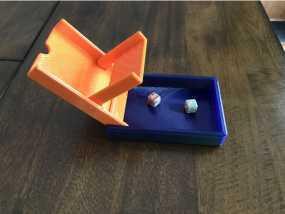便携式骰子塔与16毫米骰子