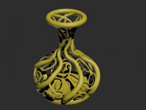 镂空瓶子模型一只