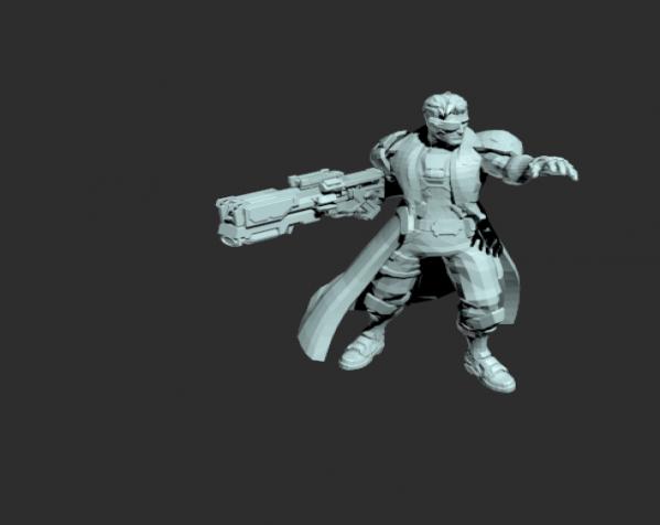 富家千金的保镖 3D打印模型渲染图
