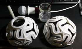 满天星镂空灯罩灯饰 3D打印实物照片