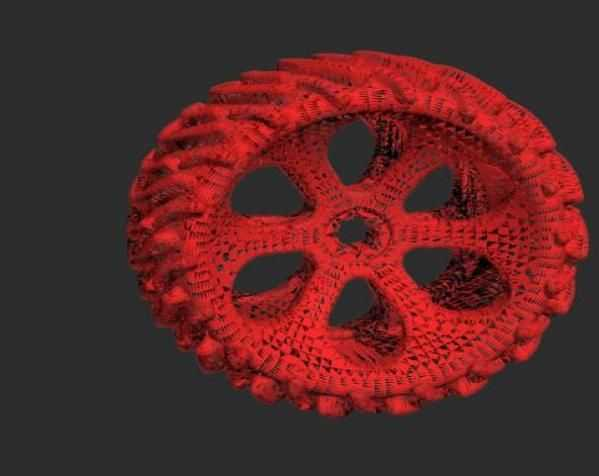 跑车轮胎模型 3D打印模型渲染图