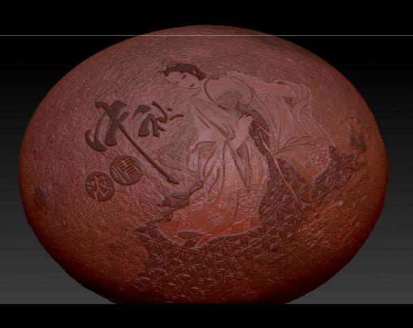 嫦娥中秋月球灯 3D打印模型渲染图
