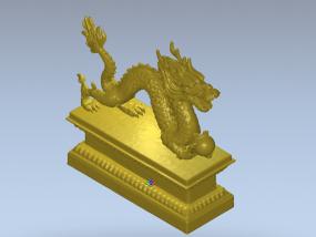 中国龙 3D 模型stl格式
